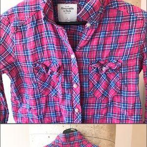 Abercrombie & Fitch Women's Plaid Button-Up Shirt